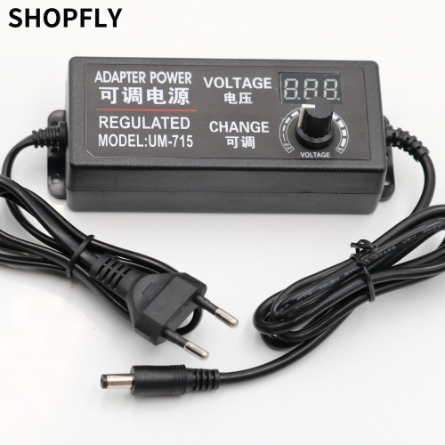 Power Supply Adapter Adjustable AC to DC 3V-12V