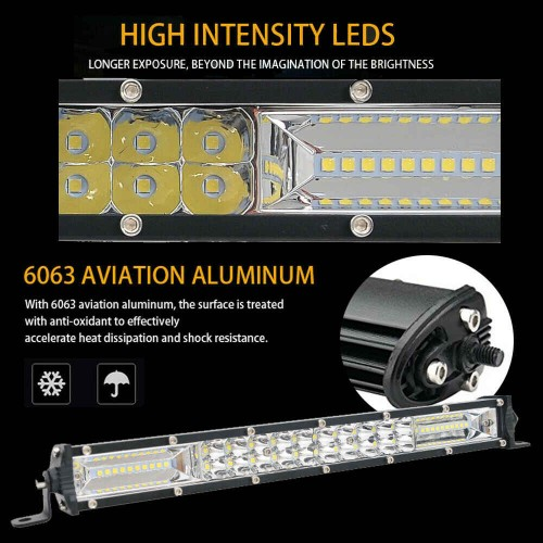 Work Light 240W Combo Spot Flood LED Bar For Truck