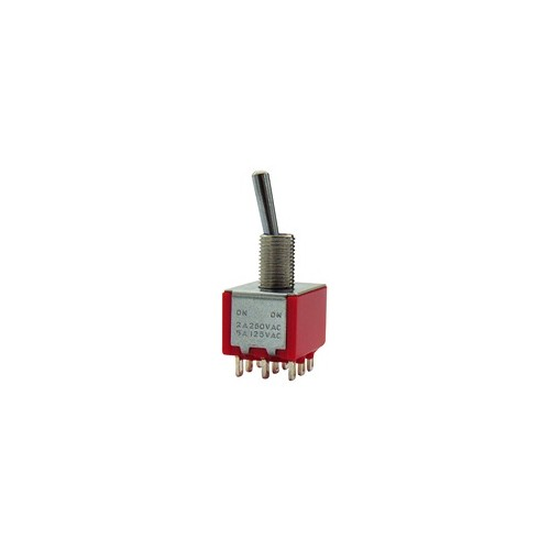 MINI TOGGLE SWITCH ON-ON 2A/250V 9P MTS-302-A1
