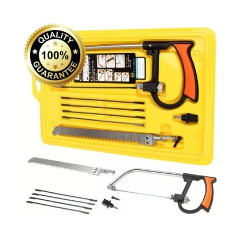 Magic Saw Multi Purpose Hand DIY Steel Saw Metal Wood Glass Saw Kit 6 Blad
