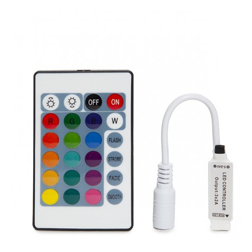 Controller Mini LED Strip RGB Remote Control 12VDC