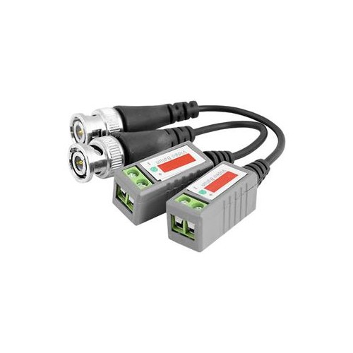 Pair CCTV Camera Video Balun Passive Transceiver BNC Coaxial UTP CAT5 Cable