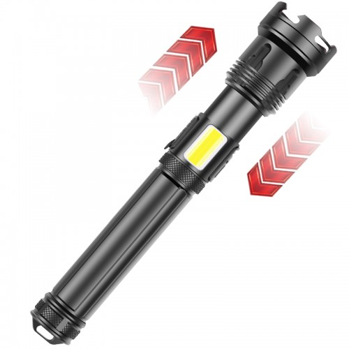 1200000 Lumens Ultra Bright xhp LED Flashlight Rechargeable Camping
