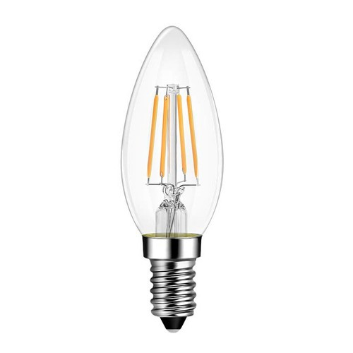 LED Bulb 6W Filament E14 Clear Cover Candle 6400K