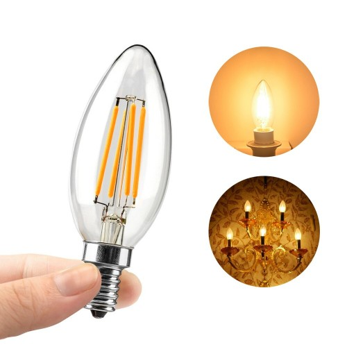 LED Filament Candle 6W Glass bulb 2700k