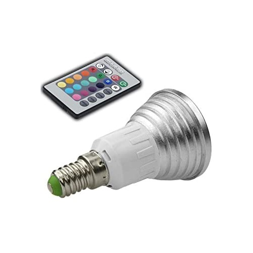 E14 RGB LED Colour Changing Light Bulb with Remote Control
