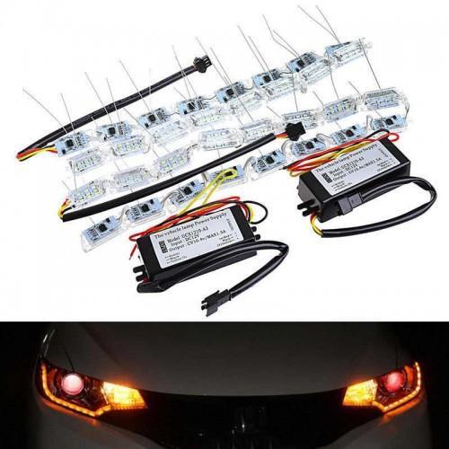 Car LED Crystal HEADLIGHT