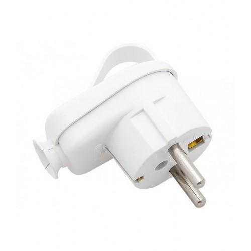 Angle Plug, Schuko Plug, Current Plug White
