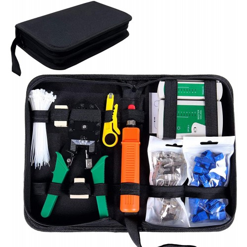 Network Tool Kit for Cat5/5e, Black