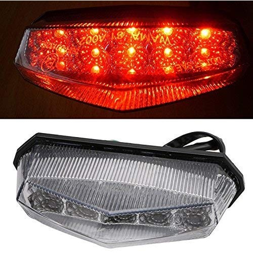 LED Motorcycle Quad Scooter Number License Plate Rear Brake Tail Light US