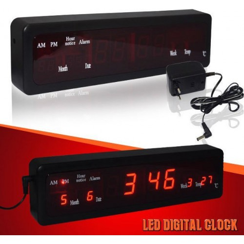 Rechargeable LED electronic clock – JH-808