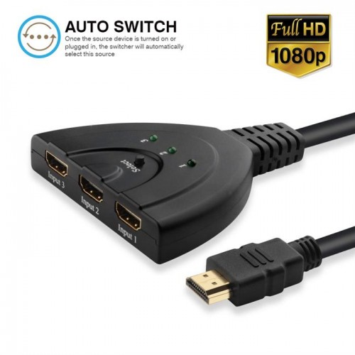 HDMI 3 Ports Pigtail Switch (3x1)