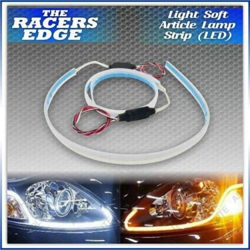 LED DRL DIY Flexible Daytime Running Light Soft Article Lamp Tube Car Styling Strip Automobiles Waterproof