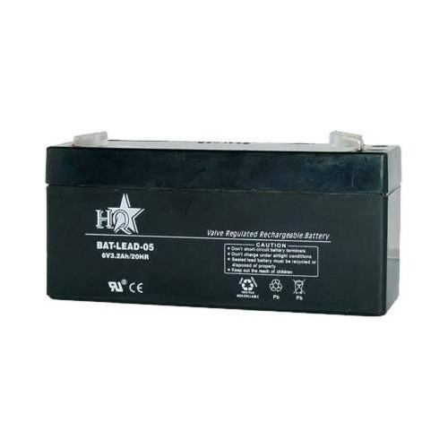 6 Volt 3.4 Ah Sealed Lead Acid Rechargeable Battery - F1 Terminal