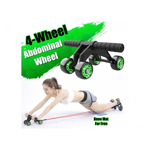 Abdominal Abs Exercise Workout with Knee Pad Mat For Men and Women Abdominal Wheel