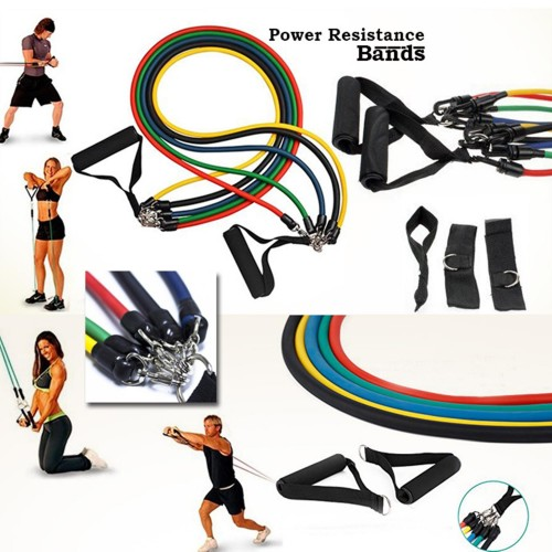 Set of 5 Power Resistance Bands Power Resistance Bands