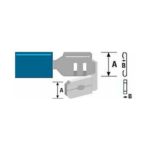 PB2-6-4V ΑΚΡΟΔΕΚΤΗΣ FASTON ΜΕ ΜΟΝΩΣΗ ΑΡΣ. & ΘΥΛ. 6,4mm ΓΙΑ ΑΓΩΓΟΥΣ 2,5mm