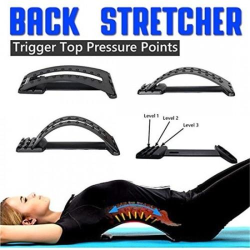 Multi-Level Back Massage Stretching Magic Back Support Stretcher Plus Waist Relax
