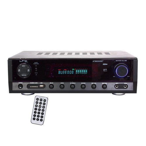 ATM-6500USB-BT Digital Tuner KARAOKE Stereo Amplifier with USB/SD MMC, BLUETOOTH and Remote Control from LTC Audio.