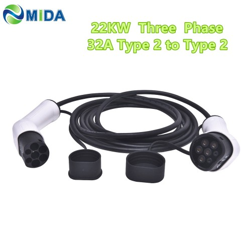 EV Charging Cable Type 2 to Type 2 32A 3 Phase 5m
