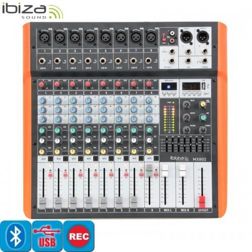 8 ΚΑΝΑΛΗ ΚΟΝΣΟΛΑ 100W ΜΕ MP3 - USB και BLUETOOTH