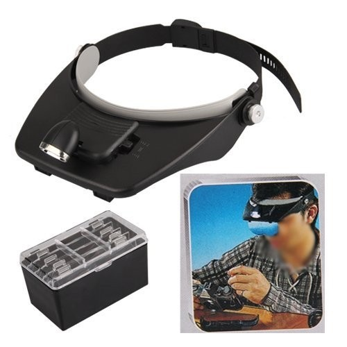 Headband Light Head Magnifying Glass 3D Scope Lens Loupe Magnifier