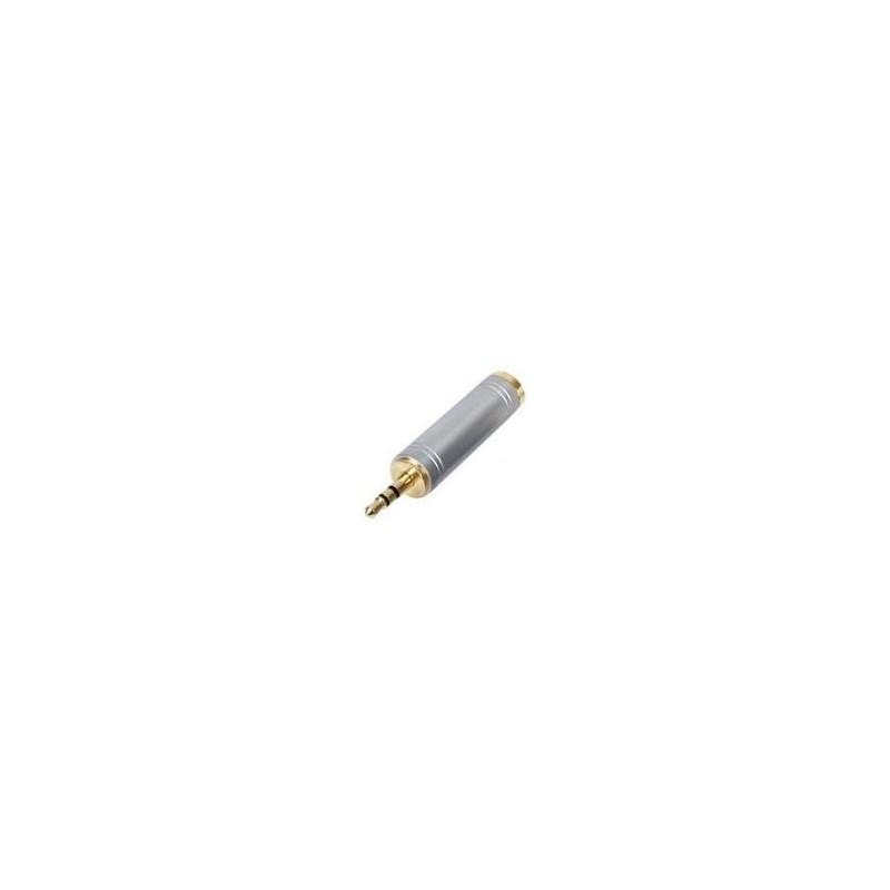 ΚΑΡΦΙ 6,3mm ΘΗΛΥΚΟ ΣΕ ΚΑΡΦΙ 3,5mm ΑΡΣΕΝΙΚΟ STEREO (TRS) ADAPTOR