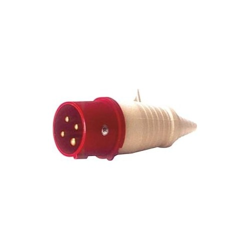 MALE INDUSTRIAL PLUG 4P 32A 024-6 IP44 PCE