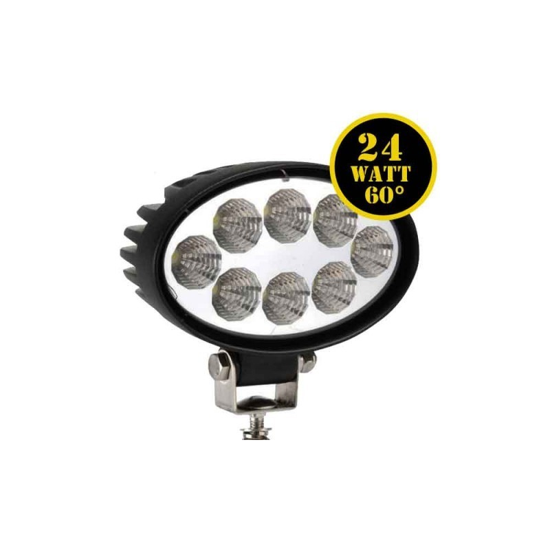 LED Driving Lights 24W OVAL HEADLIGHT