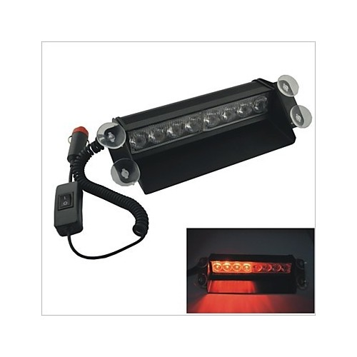 8 LED Amber & Yellow Emergency Warning Dashboard Flash Strobe Light Universal 3
