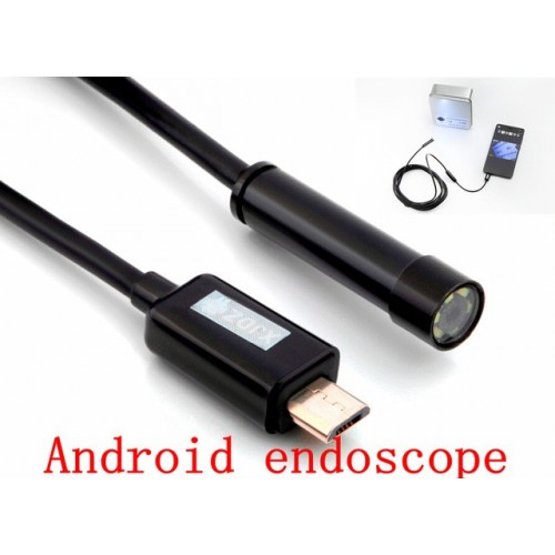 Mini Android Endoscope Waterproof Inspection Camera 6 White LEDs 7mm Lens Mini Borescope